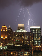 """Lightning Over Midtown Atlanta"" ©2010 by Brendan Lim"