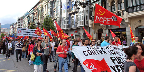 Fotos de la agitación de los CJC/CMC  y el PCPE-Asturies por la huelga general 4665576409_b2027b2204