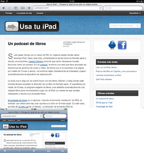 Comparación entre iPad e iPod Touch
