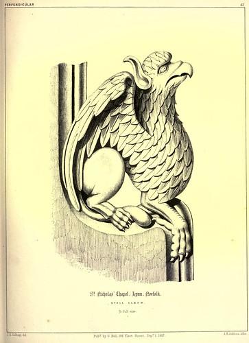 011- Estatua de madera acodada-Capilla de San Nicolas-Lynn en Norfolk-Gothic ornaments.. 1848-50-)- Kellaway Colling