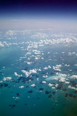(RosemarInTheseTimes) Tags: world ocean camera blue shadow sea sky storm black west green window clouds airplane puerto happy this flying is haiti wings key dominican republic floor many live space gray over cyan away rico frame fade caribbean pane bahamas airlines i accumilative