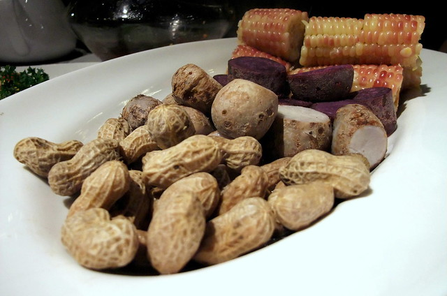 Boiled Peanuts, Sweet Potato, Taro and Corn
