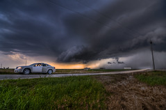 Storming over the Rental Car (Matt Granz Photography) Tags: cloud storm oklahoma nikon tokina shelf explore 1224mm hdr enid d90 photomatix tonemap