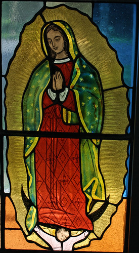 Our Lady of Guadalupe Window Detail