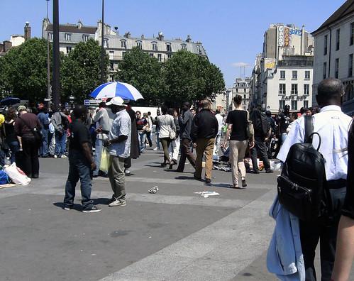 Les Sans Papiers Place de la Bastille Foto