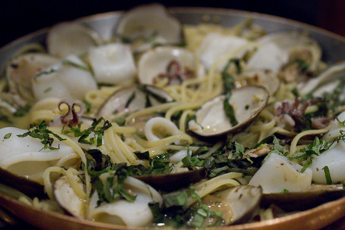 Clam and Calamari Pasta