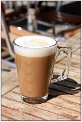 One Latte (Donna JW) Tags: glass coffee bristol table chairs drink mug latte picnik alfresco friendlychallenges gamesweepwinner