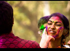the moments which live forever... (Amitayu...) Tags: colors festival canon february holi utsav kolkata bengal basanta bangla shantiniketan dol westbengal tagore rabindranath abir utsab thakur vasanta bolpur amitayu doljatra dolpurnima viswabharati