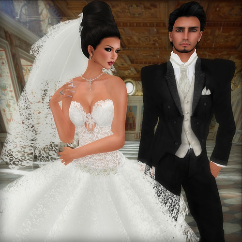 June Wedding Dress and June Groom Tux SF Design
