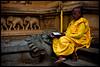 Kalaniya  | Sri Lanka (Priyal Mahendre | Sri Lanka) Tags: yellow temple reading monk buddhism priest buddhists kelaniya bikkhu nivana canon450d kalaniya priyalmahendre