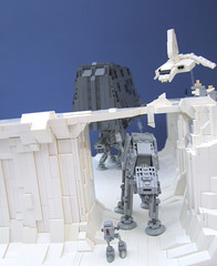 hoth1 (Rogue Bantha) Tags: star lego craft mini landing wars barge atat hoth