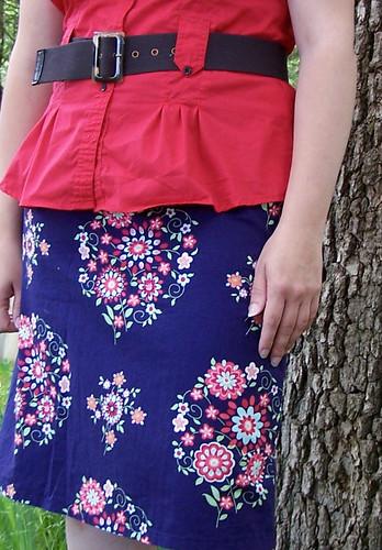 Handmade Blue A-Line Skirt