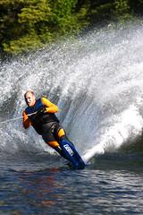 Erik Skis (Tamur Farrokhnia) Tags: lake ski wet water fun boat intense tail suit rooster erik slalom