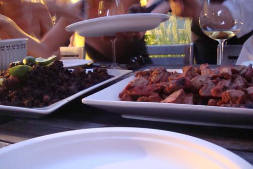 Black beans and steak