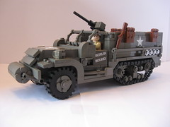 "M3 Halftrack ""Berlin Bound"" (""Rumrunner"") Tags: infantry lego wwii american ww2 division m3 armored 3rd worldwar2 halftrack allies"
