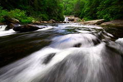 (iBlink Photos) Tags: water speed forest canon flow rocks power northcarolina running flowing dupont current triplefalls iblink