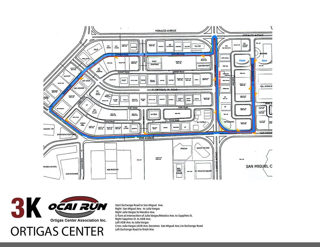 OCAI Run 2010 3K Race Map