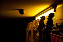 under surveillance (ion-bogdan dumitrescu) Tags: camera light music shop night neon guitar surveillance guitars rack bitzi ibdp mg2416 ibdpro wwwibdpro ionbogdandumitrescuphotography
