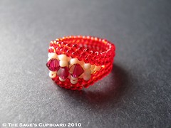 Rubies and Cream Ring by The Sage's Cupboard