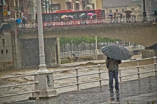 Temporal en Bilbao