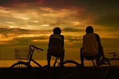Bike Buddies (25) (TheHouseKeeper) Tags: street sunset sea sky water silhouette clouds fun bay philippines bikes potd shore northside indios mateo carrier pinoy bikers photooftheday navotas inspiredbylove thehousekeeper teampilipinas flickristasindios georgemateo ikawaypinoy c4bay mmdabusterminal