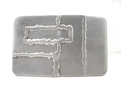 Stainless steel custom puzzle belt buckles