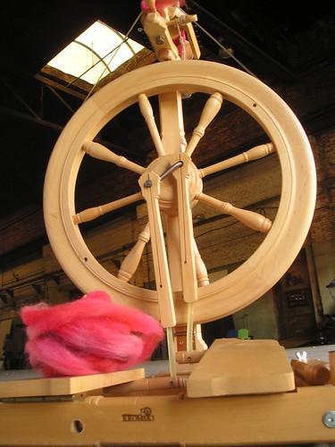 Fiber + spinning wheel