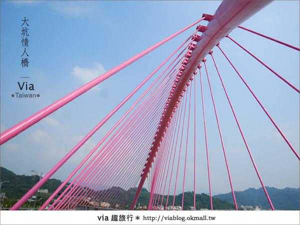 【大坑情人橋】新的台中約會景點~浪漫粉紅色情人橋16