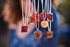 It's Wednesday and I've got bokeh...and the chipmunk (Jaime973) Tags: canon wednesday 50mm raw bokeh necklaces pendants anyideas hbw bokehme bokehcurls westillhaveourhouseguest