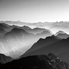 A Friendly Pause (Christopher J. Morley) Tags: bw mountains square dawn bc view explore crop summit layers chilliwack cheam takecaremyfriend bestcapturesaoi elitegalleryaoi