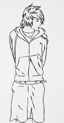 Nathan (of desandnate on youtube) (omgwtflizzie) Tags: anime nathan lineart desandnate