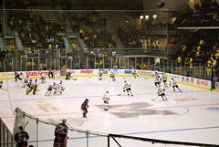 Michigan Hockey (bluejetjane) Tags: motion blur college sports hockey team movement nikon nebraska university michigan annarbor arena uofm uno skate omaha universityofmichigan pregame wolverines d60 yosticearena