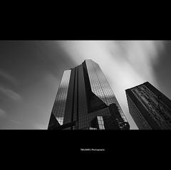 Classy - Not Classy B&W (Feo David) Tags: sky bw white black paris france reflection clouds speed canon buildings pose eos long exposure noir wind 5d nuages blanc batiment fill immeubles longue
