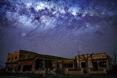 Luces del cielo (karinavera) Tags: travel sonya7r2 view building night street batis25 astrophotography epecuen urbex starrynight abandoned sky milkyway longexposure stars