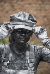 Living statues in Westerbork  (9) de kokkin (John de Grooth) Tags: westerbork livingstatue livingstatues drenthe 2017 02062017
