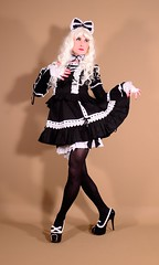 124H1L (klarissakrass) Tags: lolita heels costume cosplay crossdress crossdresser crossdressing bordello