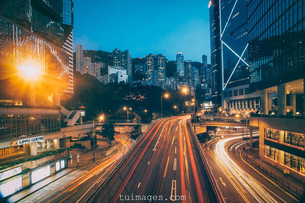 hong hongkong kong landscape light long metropolis night skyscraper