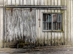 Historic Shipyard Building (Jenny Pics) Tags: old decay weathering deterioration broken window texture tones vancouver bc canada eleven