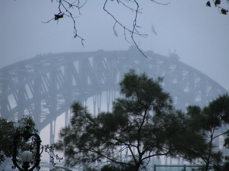 The famous harbour bridge you can climb
