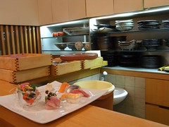 Barra de Sushi del Restaurante Bizan
