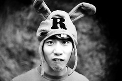 (joshunojoshu) Tags: blackandwhite bw rabbit ears r