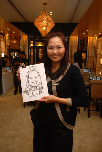 Caricature live sketching for Chanel Day 1 - 2