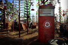 Bottle Tree Ranch (americanbackroom.com) Tags: california usa america vintage bottle junk unitedstates jeep bottles junkyard texaco bottletree gaspump bryman bottletreeranch elmerlong bottleranch