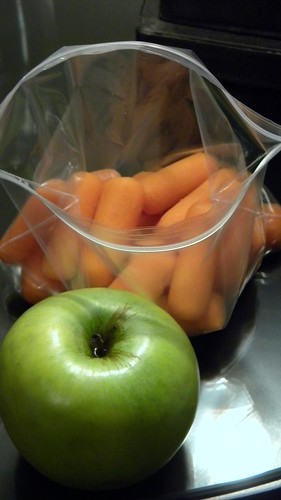 Apple and baby carrots