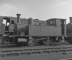 30102 Eastleigh Shed 27 Oct 1962 (pondhopper1) Tags: blackandwhite white black railway steam eastleigh lswr uksteam enginesheds