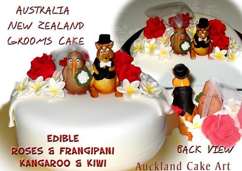 AUSTRALIA NEW ZEALAND WEDDING GROOMS CAKE