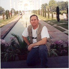 Robert at the Taj Mahal
