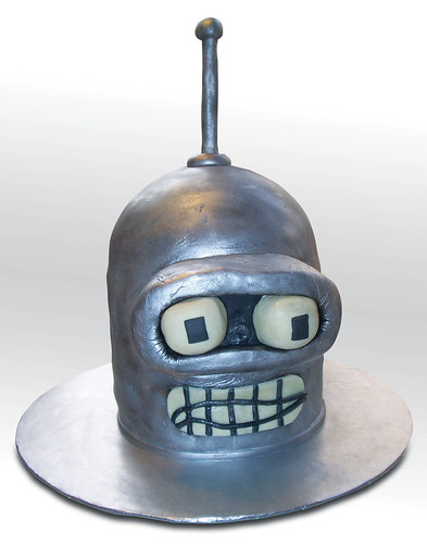 Futurama Bender's Head Cake