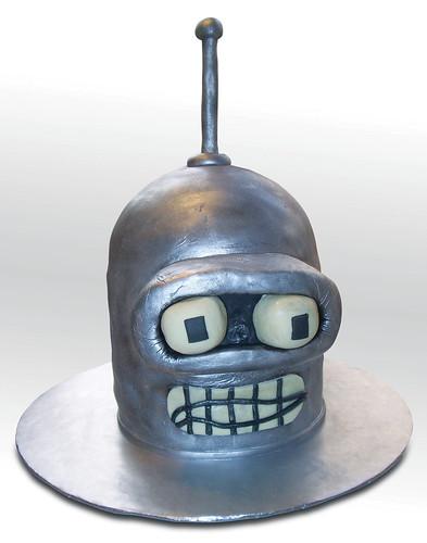 Futurama Bender's Head Cake