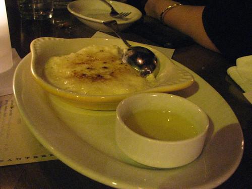 Tapioca brulee with pineapple szechuan